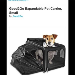 Travel Doggie carrier!